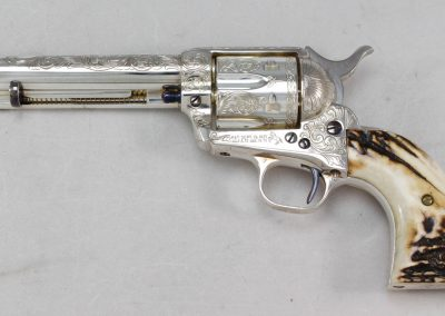 Colt SAA 2nd Generation Engraved Silver 2