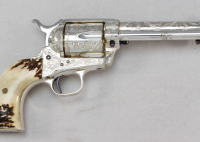 Colt SAA 2nd Generation Engraved Silver 3