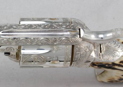 Colt SAA 2nd Generation Engraved Silver 7