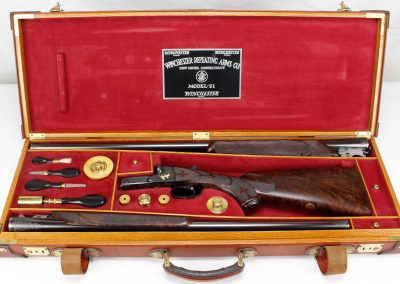 Winchester Model 21 2-Barrel Set In Case 1